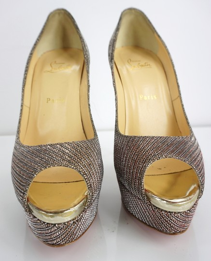 Christian Louboutin Party Formal Beige Pumps Image 8