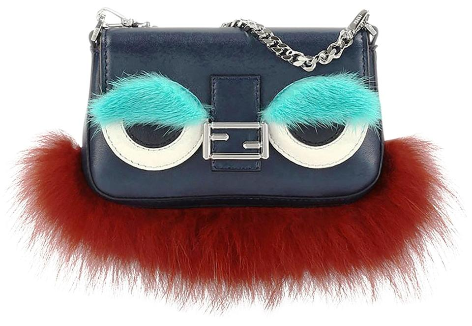 db42d44102 Fendi Leather   Fur Made In Italy Monster Mini Cross Body Bag Image 0 ...