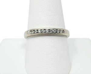 Other 14k White Gold Channel Set .18ct Diamond Ring Band Size 10