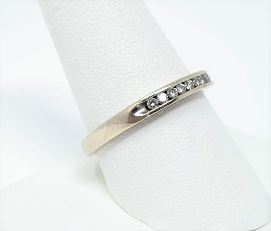 Other 14k White Gold Channel Set .18ct Diamond Ring Band Size 10 Image 1