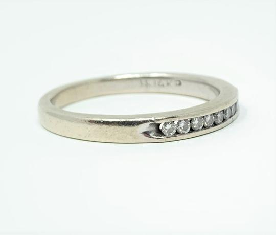 Other 14k White Gold Channel Set .18ct Diamond Ring Band Size 10 Image 2