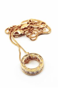 Ocean Fashion Gold Circle crystal necklace