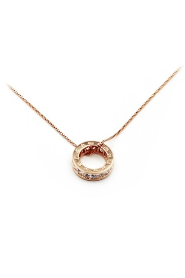 Ocean Fashion Gold Circle crystal necklace Image 2