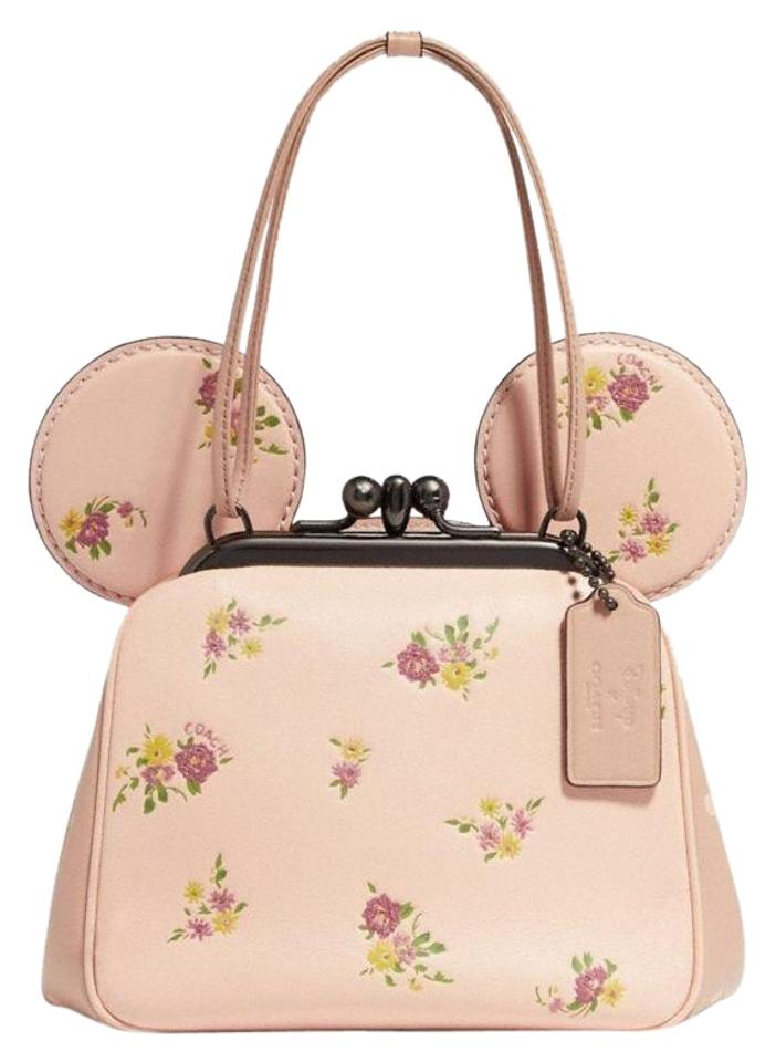 03399025 Coach Limited Edition Disney X Minnie Mouse Vintage Pink Leather Cross Body  Bag
