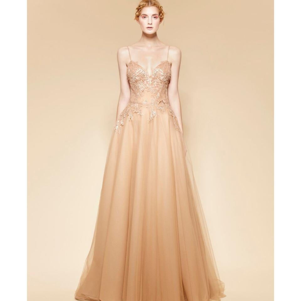 Blush Wedding Dress.Blush Tulle 1666 Gown New Modern Wedding Dress Size 8 M 56 Off Retail