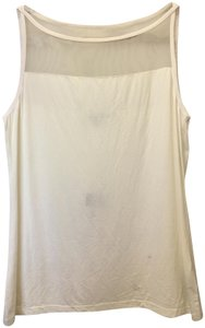 Lauren Ralph Lauren Sleeveless Mesh Bodice Detail Criss Cross Straps New With Tags Top Cream