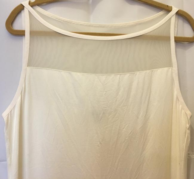 Lauren Ralph Lauren Sleeveless Mesh Bodice Detail Criss Cross Straps New With Tags Top Cream Image 1