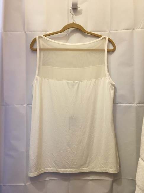 Lauren Ralph Lauren Sleeveless Mesh Bodice Detail Criss Cross Straps New With Tags Top Cream Image 5