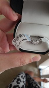 Silver And Band Engagement Ring