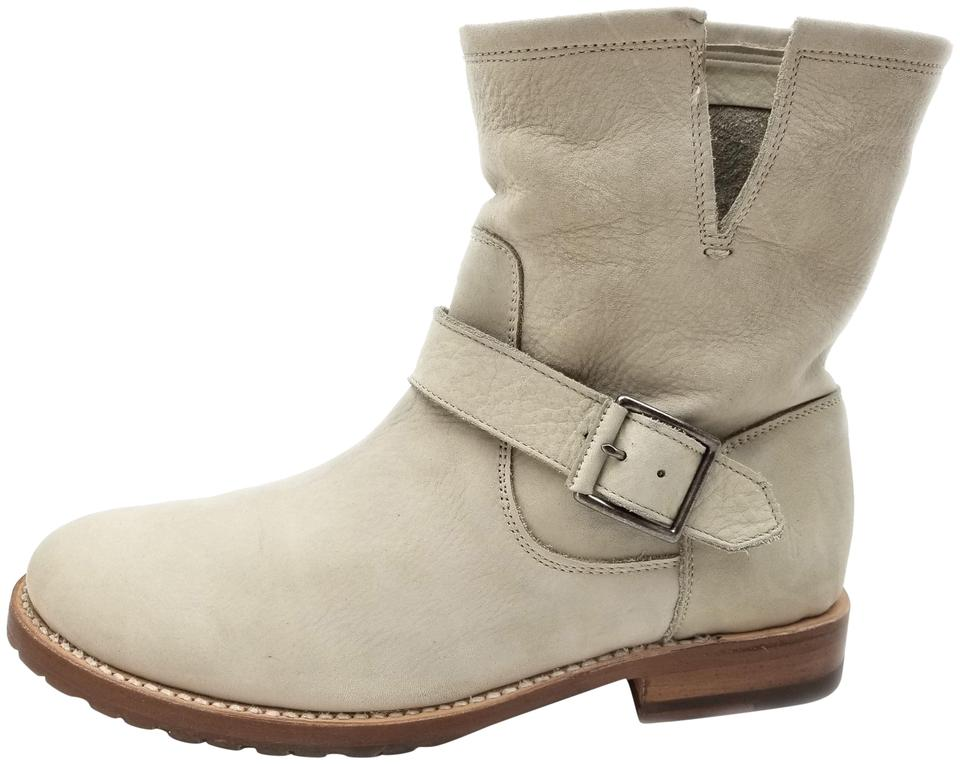 ae215f91f2fb Frye Features Buckles Made In Mexico Leather IVORY NUBUCK Boots Image 0 ...