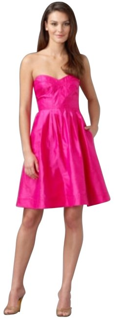 """Item - Pink XS Dvf Hot Sweetheart Bodice """"bowenia"""" Corset Fit and Flair 0 Mid-length Formal Dress Size 0 (XS)"""