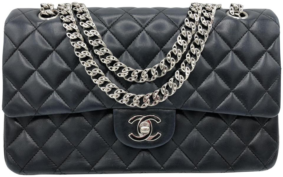 e0871ebcd90d Chanel Double Flap Bijoux Chain Classic Quilted Lambskin Leather Shoulder  Bag Image 0 ...