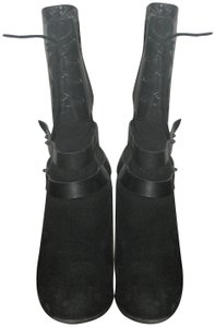 Antelope Studded Distressed Black Boots