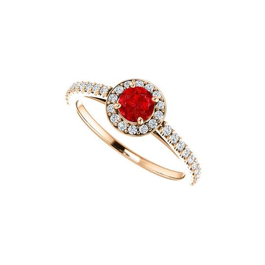 Preload https://img-static.tradesy.com/item/24172138/red-brilliant-cut-ruby-and-cz-halo-in-14k-rose-gold-ring-0-0-540-540.jpg
