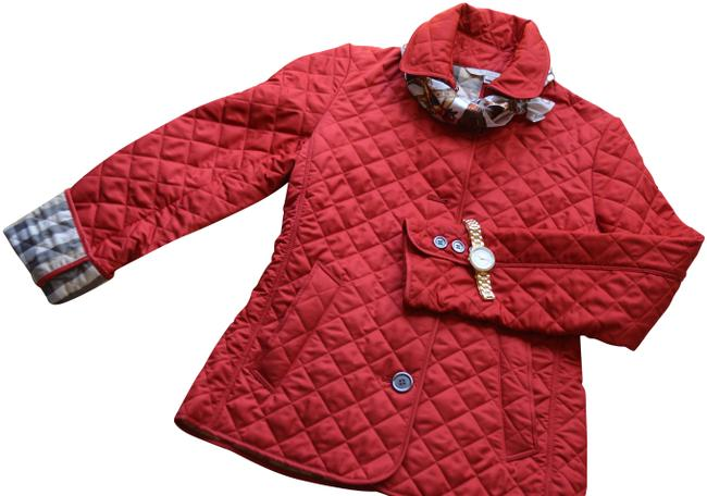 Item - Red Quilted Jacket Coat Size 4 (S)