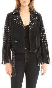 Bagatelle Studded Belted Moto Leather Jacket