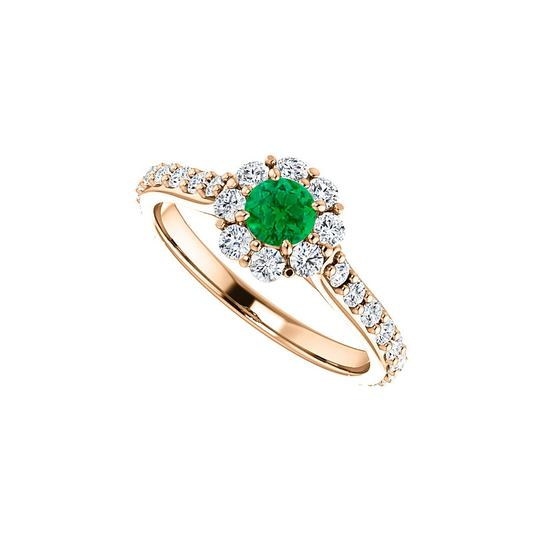 Preload https://img-static.tradesy.com/item/24172292/green-round-emerald-cz-floral-style-halo-14k-rose-gold-ring-0-0-540-540.jpg
