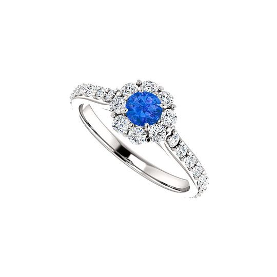 Preload https://img-static.tradesy.com/item/24172325/blue-sapphire-and-cz-classy-sparkle-halo-in-white-gold-ring-0-0-540-540.jpg