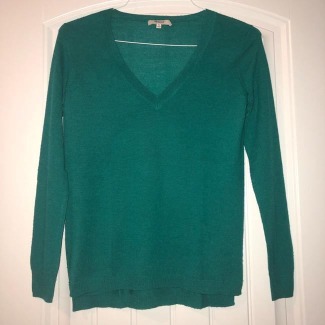Madewell V-neck Fitted Fall Winter Bright Sweater Image 1