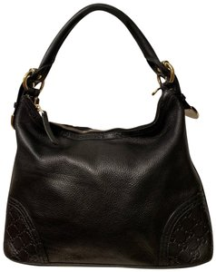 ed3aff5df62 Gucci Black Pebble with Gold Hardware Leather Hobo Bag - Tradesy