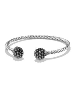 David Yurman David Yurman Hematite Berries End Station Bracelet in Sterling Silver