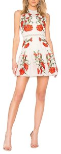 Alexis short dress white red on Tradesy