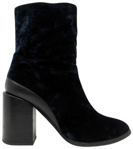 Dear Frances Navy Blue Black Boots