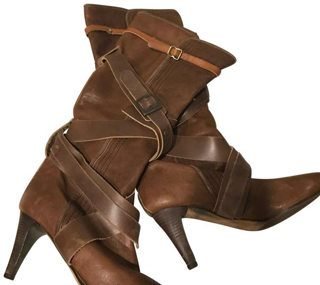 Chloé Brown Slouch Leather Boots/Booties Size EU 37.5 (Approx. US 7.5) Regular (M, B) Chloé Brown Slouch Leather Boots/Booties Size EU 37.5 (Approx. US 7.5) Regular (M, B) Image 1