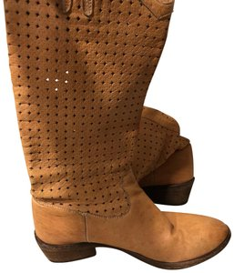 a736c78a5a2 Frye Tan Carson Perforated Leather Slouch Cowboy Boots/Booties Size US 7  Regular (M, B) 74% off retail