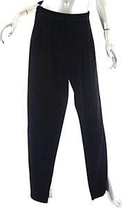 Sonia Rykiel Cotton Blend Velour Pull On Drop Pleat Relaxed Pants Black