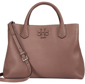 Tory Burch Satchel in Silver Maple