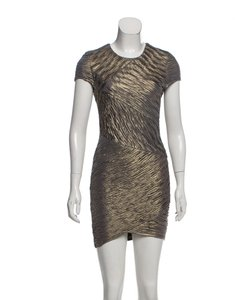 Torn by Ronny Kobo Bodycon Night Out Metallic Dress