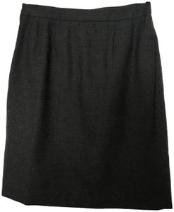 Herman Geist Wool Fully Lined Skirt Heather Grey
