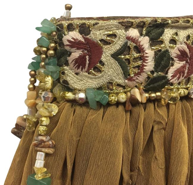 Item - Beaded Olive Fabric/ Beads Baguette