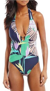 Trina Turk Trina Turk Midnight Paradise V-Plunge One-Piece Swimsuit