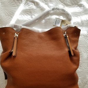 0063df1bb Burberry New With Tags Leather Canvas Tote in Saddle brown