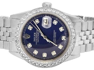 Rolex Mens Ladies Datejust 36MM Jubilee Blue Dial Diamond 2.5 Ct