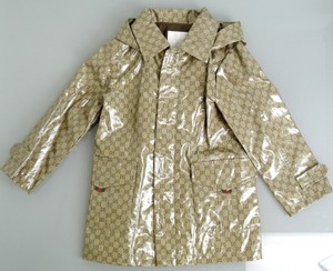 35e5aecbd Gucci Brown Kids' Long Sleeve Crystal Gg Rain Coat Jacket 4 265735 Groomsman  Gift