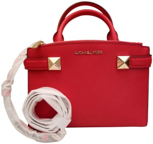 09af4d819c7bfb Michael Kors Bags Mk Crossbody Bags Karla Satchel in Red