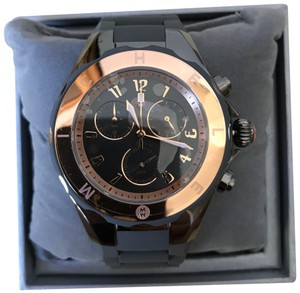 Michele NWT Tahitian Jelly Beans Grey Rose Gold Tone, Grey Dial MWW12F000064