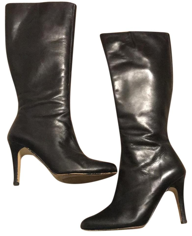 d721293e5 Nordstrom Black Leather Knee High Boots/Booties Size US 5.5 Regular ...