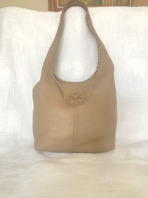 Item - Marion Whipstitched Tan Leather Hobo Bag