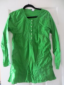 1a37a443587 J.Crew Green Kelly Shirt Beach Cover Up Tunic Size 4 (S) - Tradesy