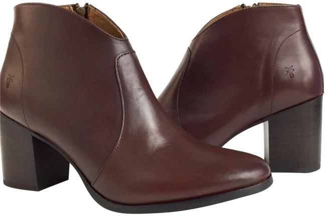 Item - Red Brown New Nora Leather Zip Women's Ankle Boots/Booties Size US 9 Regular (M, B)