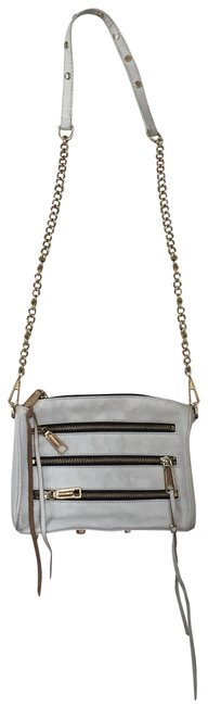 Item - Moto White Leather Shoulder Bag