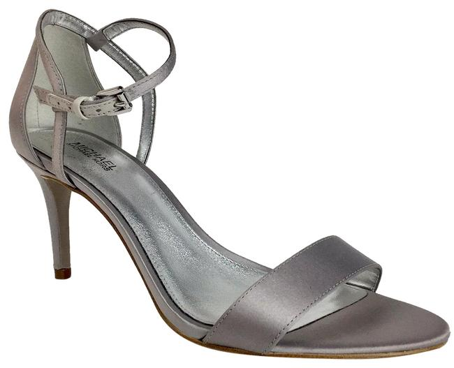 Item - Silver New Classic Ankle Strap Sandals Pumps Size US 7.5 Regular (M, B)