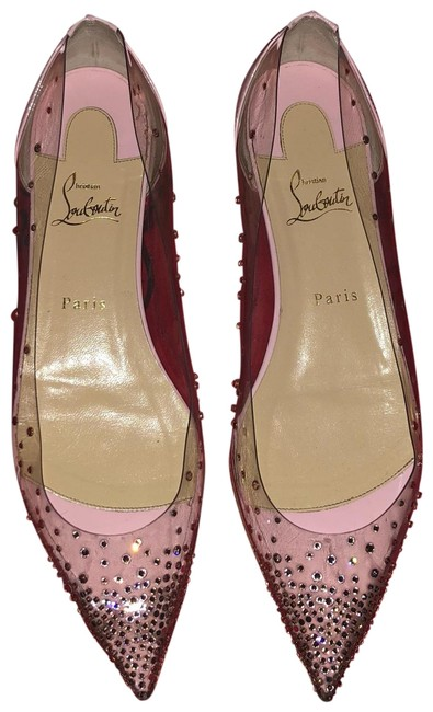 Item - Clear with Rose Gold Sequins Degrastress Flats Size EU 41 (Approx. US 11) Narrow (Aa, N)