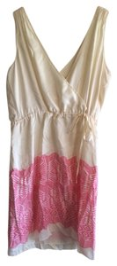 Banana Republic short dress Cream And Pink on Tradesy