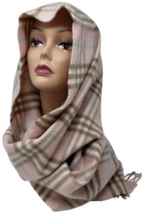 Burberry Pink multicolor Burberry Nova Check cashmere wool scarf