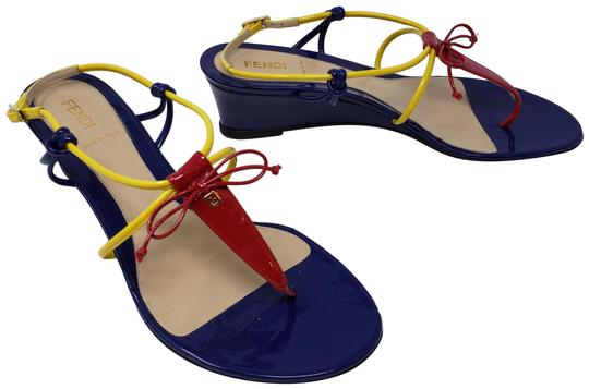 Preload https://img-static.tradesy.com/item/24176080/fendi-multicolor-red-yellow-blue-patent-leather-zucca-thong-wedge-sandals-size-eu-39-approx-us-9-reg-0-3-540-540.jpg